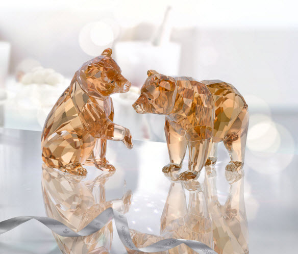 スワロフスキー SCS会員限定 クマの赤ちゃん ペア SCS 30周年記念作品 5236593 Swarovski SCS Bear Cubs□