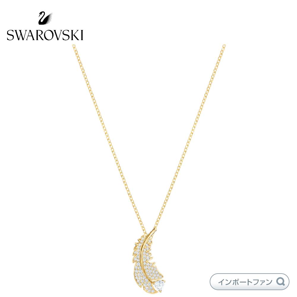 Swarovski NICE NECKLACE 海外輸入 WHITE GOLD-TONE PLATED ネックレス ナイス 商舗 スワロフスキー ゴールド 5505740 羽根