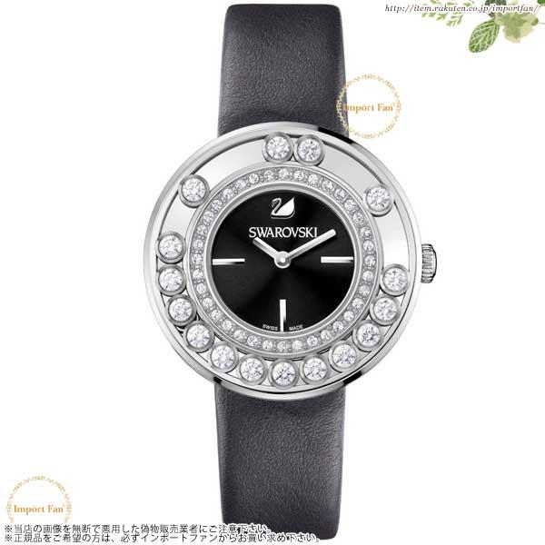 スワロフスキー ラブリー クリスタル Anthracite 腕時計 ブラックレザー 1160306 Swarovski Lovely Crystals Anthracite Watch 【ポイント最大42倍!お買物マラソン】