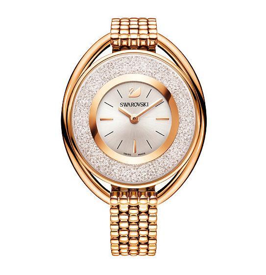 スワロフスキー クリスタリン オーバル ローズゴールド トーン ブレスレット ウォッチ 5200341 Swarovski Crystalline Oval Rose Gold Tone Bracelet Watch □
