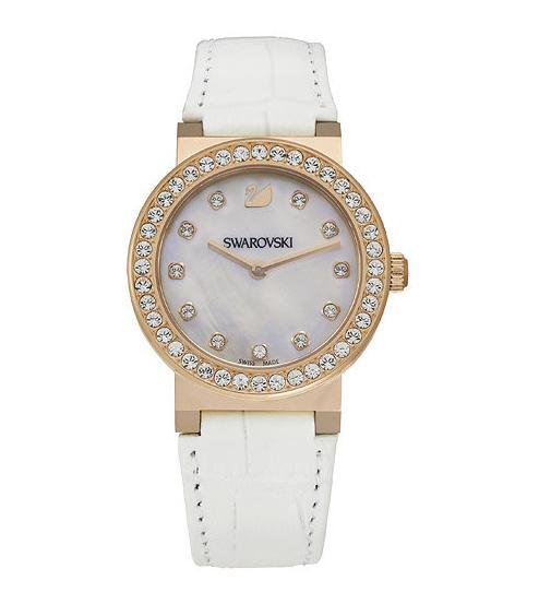 スワロフスキー シトラ スプヒアー ミニ ホワイト ローズゴールド トーン ウォッチ 腕時計 5027219 Swarovski Citra Sphere Mini White Rose Gold Tone Watch □