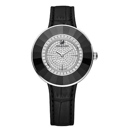 スワロフスキー オクテア ドレッシー ブラック ウォッチ 腕時計 5080506 Swarovski Octea Dressy Black Watch □