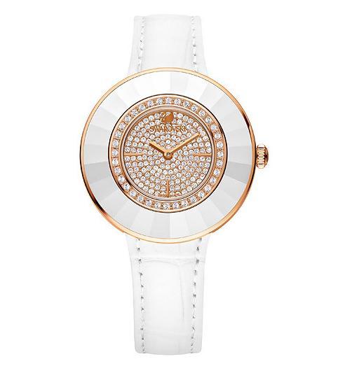 スワロフスキー オクテア ドレッシー ホワイト ローズゴールドトーン ウォッチ 腕時計 5095383 Swarovski Octea Dressy White Rose Gold Tone Watch □