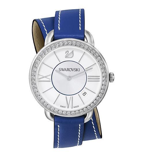 スワロフスキー アイラ デイ ダブル ツアー ブルー ウォッチ 腕時計 5095944 Swarovski Aila Day Double Tour Blue Watch □