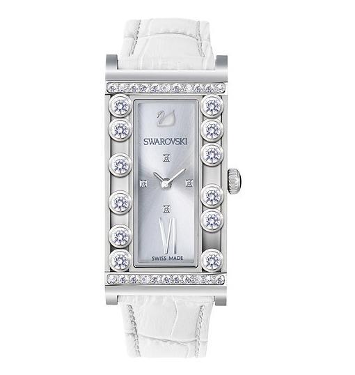 スワロフスキー ラブリー クリスタル スクエアー ホワイト ウォッチ 腕時計 5096680 Swarovski Lovely Crystals Square White Watch □