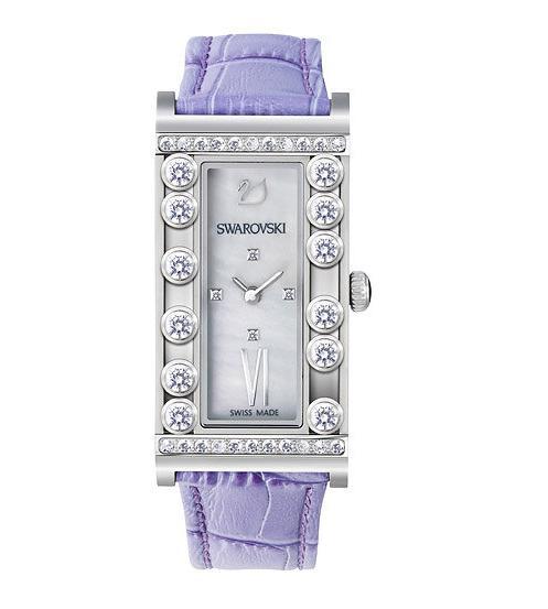 スワロフスキー ラブリー クリスタル スクエアー ライラック ウォッチ 腕時計 5096684 Swarovski Lovely Crystals Square Lilac Watch □