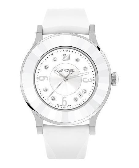 スワロフスキー オクテア クラッシカ ホワイト ラバー ウォッチ 腕時計 5099356 Swarovski Octea Classica White Rubber Watch □