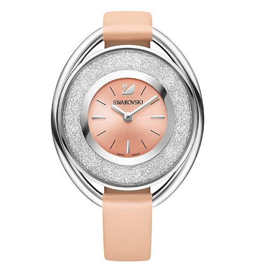 スワロフスキー クリスタリン オーバル ライトローズ ウォッチ 腕時計 5158546 Swarovski Crystalline Oval Light Rose Watch □