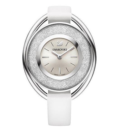 スワロフスキー クリスタリン オーバル ホワイト ウォッチ 腕時計 5158548 Swarovski Crystalline Oval White Watch □