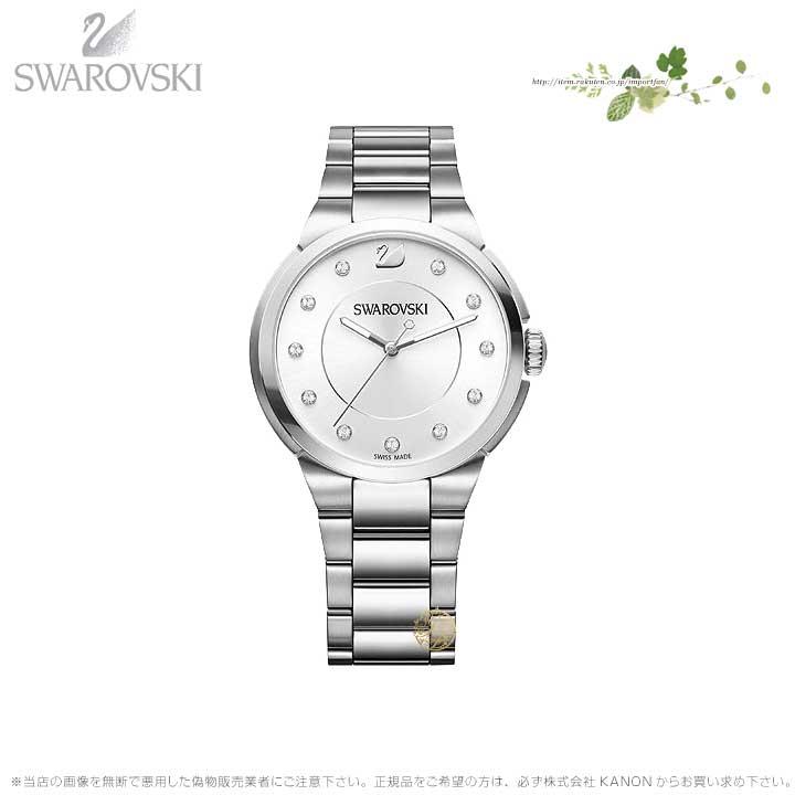 スワロフスキー シティ ウォッチ メタル ブレスレット ホワイト シルバー 時計 5181632 Swarovski □