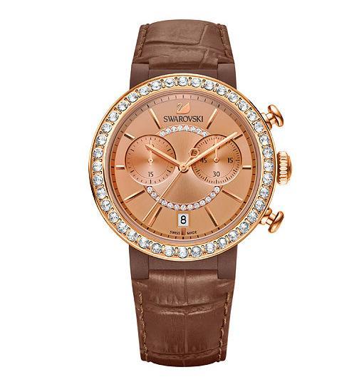 Swarovski スワロフスキー シトラ スプヒアー クロノ ウォッチブラウン 腕時計 全商品オープニング価格 5183367 Brown Watch 新商品 スーパー Citra Chrono セール ポイント最大44倍 Sphere