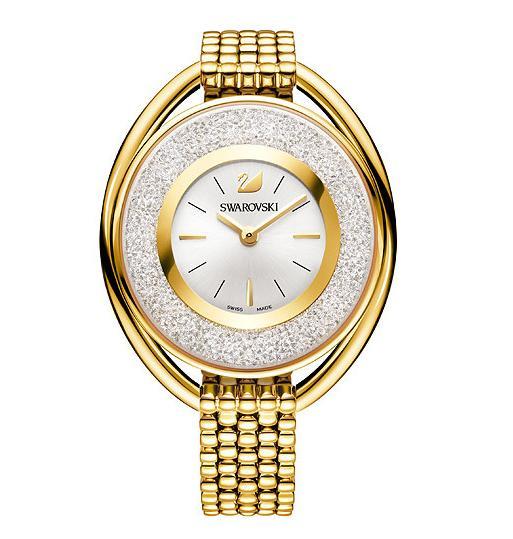 スワロフスキー クリスタリン オバール ゴールドストーン ブレスレット ウォッチ 腕時計 5200339 Swarovski Crystalline Oval Gold Tone Bracelet Watch□