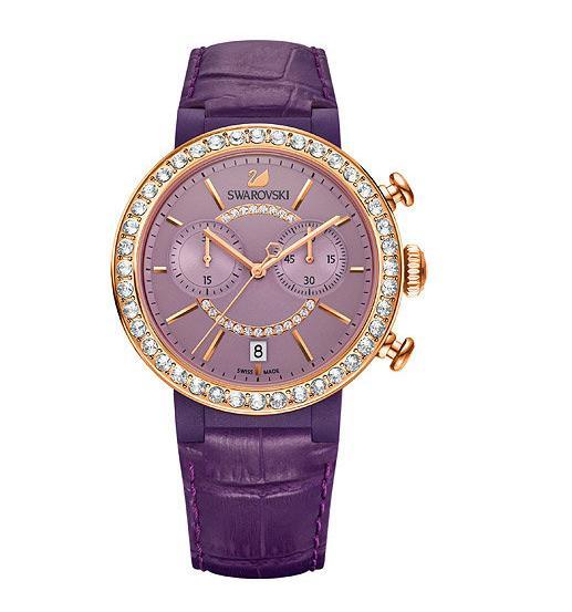 スワロフスキー シトラ スプヒアー クロノ ウォッチバイオレット 腕時計 5210211 Swarovski Citra Sphere Chrono Watch Violet □