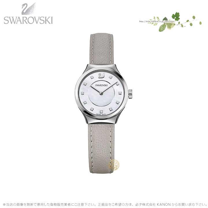 スワロフスキー ドリーミー ウォッチ レーザー ストラップ グレー シルバー 時計 5219457 Swarovski □