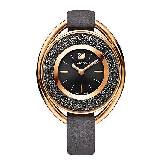スワロフスキー クリスタリン オバール グレイトーン ウォッチ 腕時計 5230943 Swarovski Crystalline Oval Gray Tone Watch □