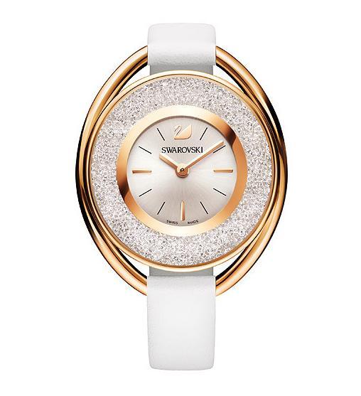 スワロフスキー クリスタリン オバール ホワイトトーン ウォッチ 腕時計 5230946 Swarovski Crystalline Oval White Tone Watch □