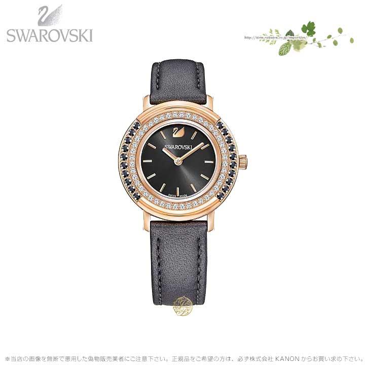 スワロフスキー プレイフル レディ ウォッチ レザー ストラップ グレー ローズゴールド 時計 5243047 Swarovski □
