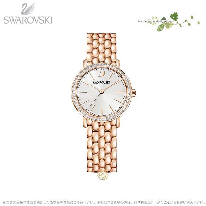 スワロフスキー グレースフル ミニ ウォッチ メタル ブレスレット ローズゴールド 時計 5261490 Swarovski □