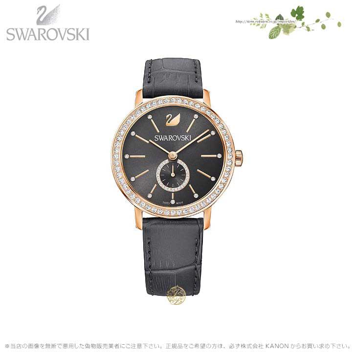 スワロフスキー グレー レディ ウォッチ レザー ストラップ グレー ローズゴールド 時計 5295389 Swarovski □