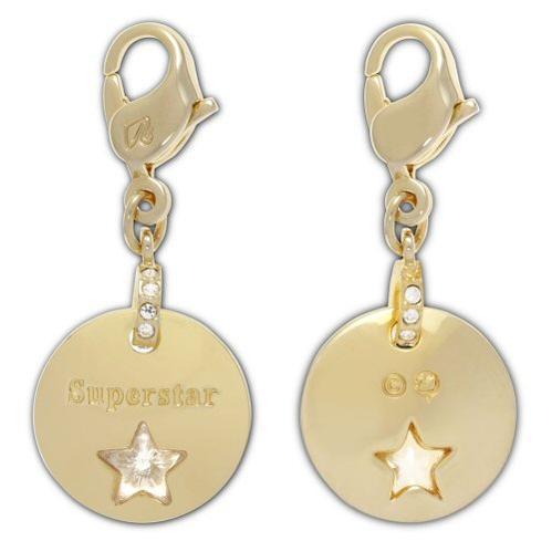 スワロフスキー Swarovski Gold Super Star Medal ゴールドスーパースターメダル チャーム, ゴールドコーティング 1128414 アクセサリー □