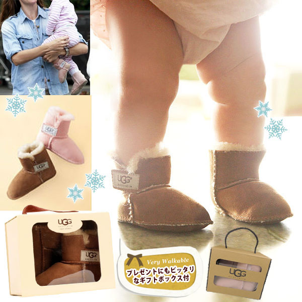 f544f14e248 *UGG アグ regular article baby ERIN mouton boots 5202 baby shoes 13-15cm □