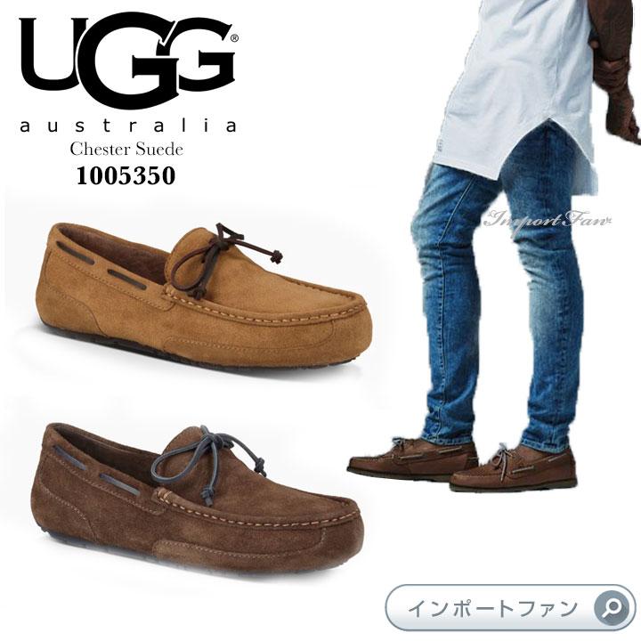 UGG アグ正規品 メンズ チェスター スエード  モカシン カジュアルシューズ 1005350 UGG Chester Suede□