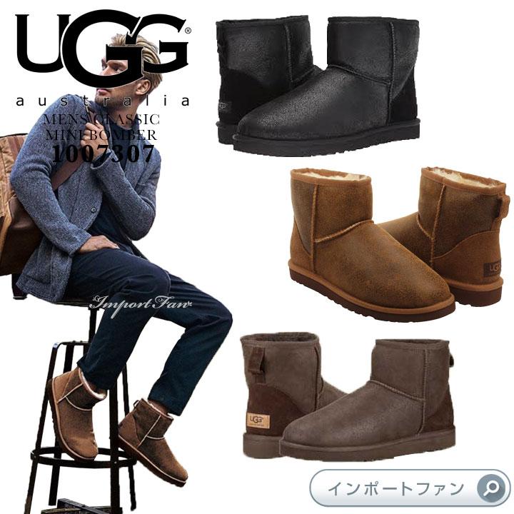 d8278c6b07d UGG アグ regular article men classical music mini-Bonn bar mouton boots  1007307 UGG Classic Mini Bomber □