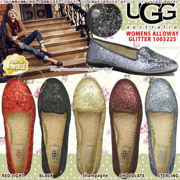 UGG アグ 超特価SALE開催 正規品 アロウェイ グリッター フラットシューズ 全品最安値に挑戦 Alloway Glitter インドア アウトドア 1003225