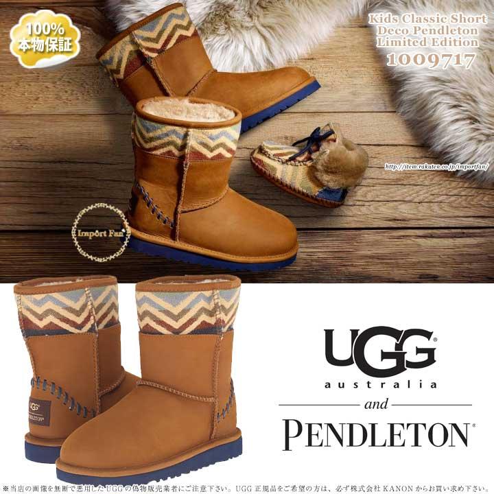 f4cb17c12d0 UGG アグ regular article kids classical music short mouton boots 1009717 UGG  Kids Classic Short Deco Pendleton □