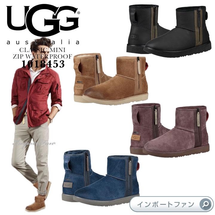アグ メンズ クラシック ミニ ジップ ウォータープルーフ ブーツ 1018453 UGG CLASSIC MINI ZIP WATERPROOF □