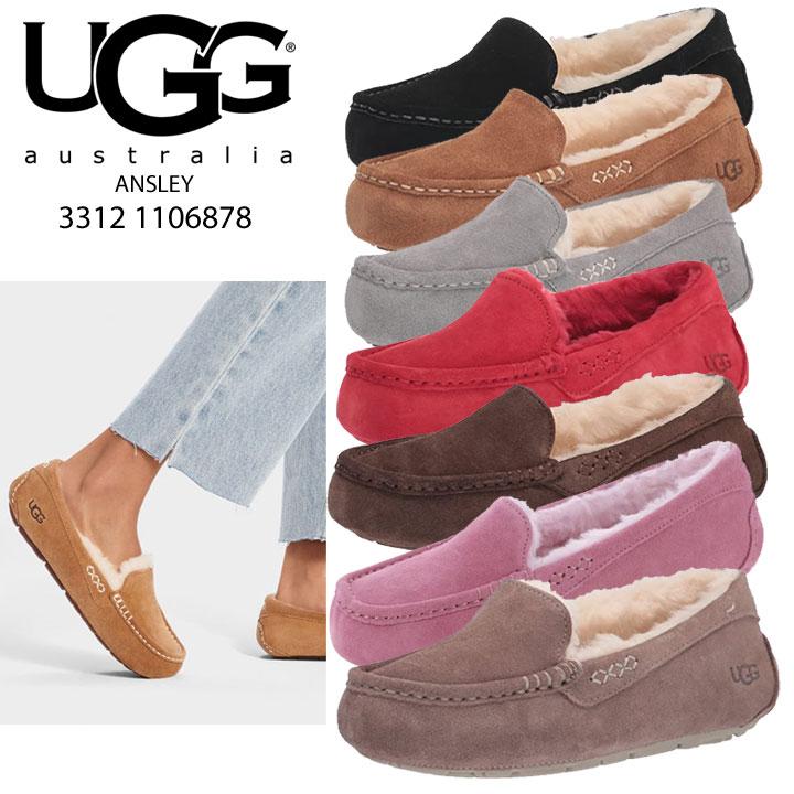 UGG UGG ANSLEY Annesley Sheepskin moccasin shoes 3312 ◇ indoor outdoor ◇ regular imports
