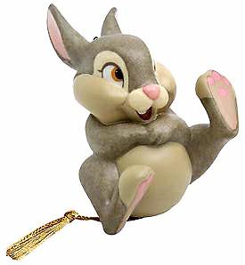 【ポイント最大43倍!お買物マラソン】WDCC バンビ 笑顔のサンパー 1028792 Bambi Thumper Belly Laugh