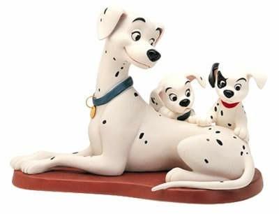 【ポイント最大43倍!お買物マラソン】WDCC 101匹わんちゃん パディータと子犬たち 453054337 101 Dalmatian Perdita W/Patch & Puppy Patient Perdita