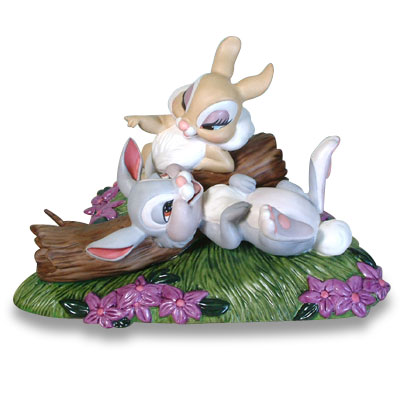 【ポイント最大43倍!お買物マラソン】WDCC バンビ とんすけとミス・バニー 46211 Bambi Thumper & Miss Bunny Twitterpated In The Springtime
