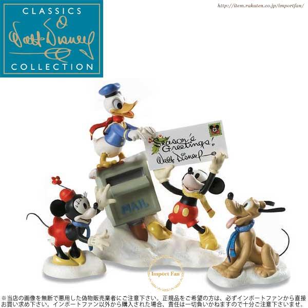WDCC ミッキー ミニー ドナルド プルート クリスマスカード 1229844 Merry Messengers【ポイント最大43倍!スーパー セール】