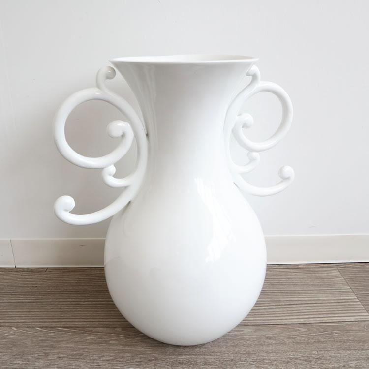 花瓶 おしゃれ シンプル 造花用 フラワーベース 大型 ホワイト オブジェ 玄関 飾りアート オブジェ リビング 花器 モダン 白インテリア
