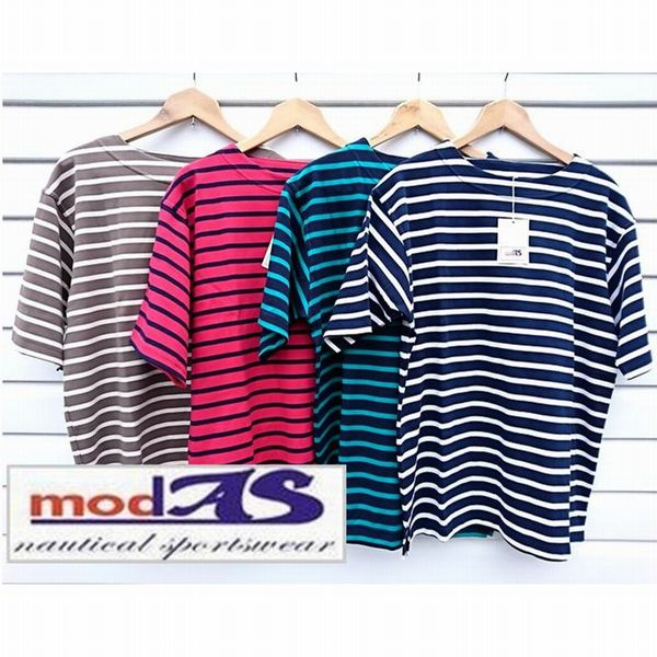 modAS made in Germany[4 Color]/モダス ボーダーバスクシャツ S/S ドイツ製