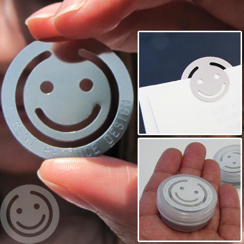 CEMENT PRODUCE DESIGN/セメント プロデュース デザイン/ステーショナリー/文房具/クリップ/おしゃれ/かっこいい #3189# ステーショナリー CEMENT PRODUCE DESIGN (セメント プロデュース デザイン) Happy Face Clip(ハッピーフェイスクリップ)  おしゃれなクリップ