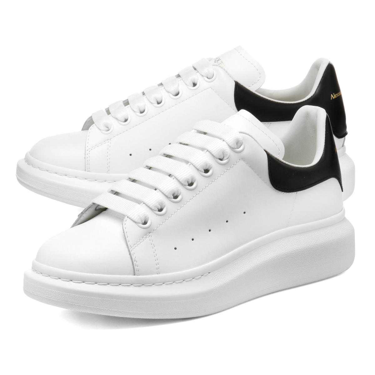 553680 Alexander McQueen ALEXANDER McQUEEN shoes men WHGP5 9061 sneakers  WHITE/BLACK white