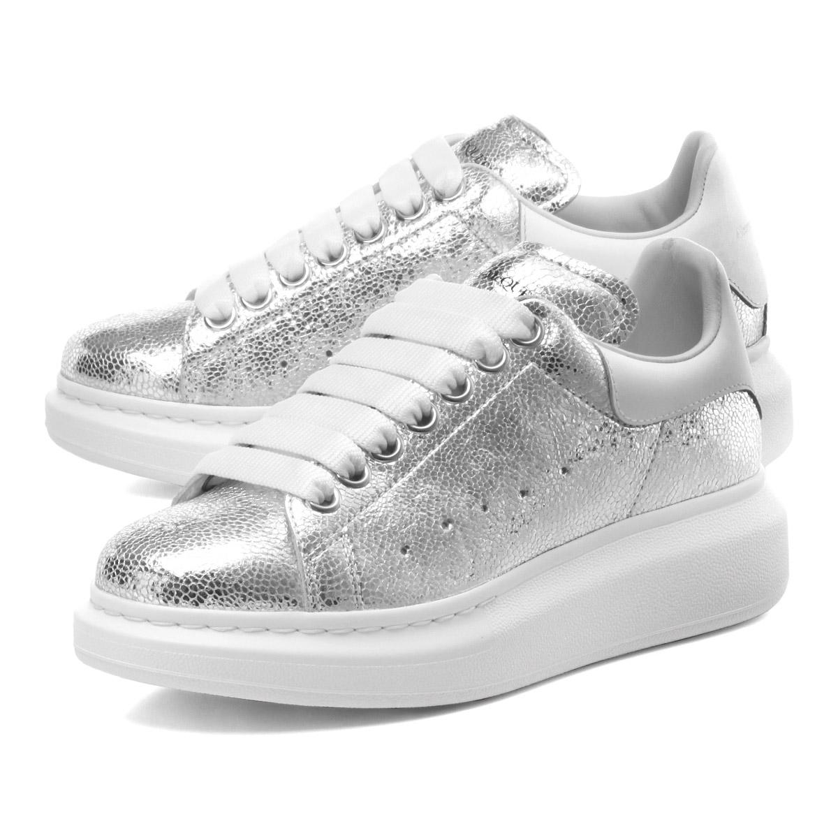 alexander mcqueen sneakers silver off