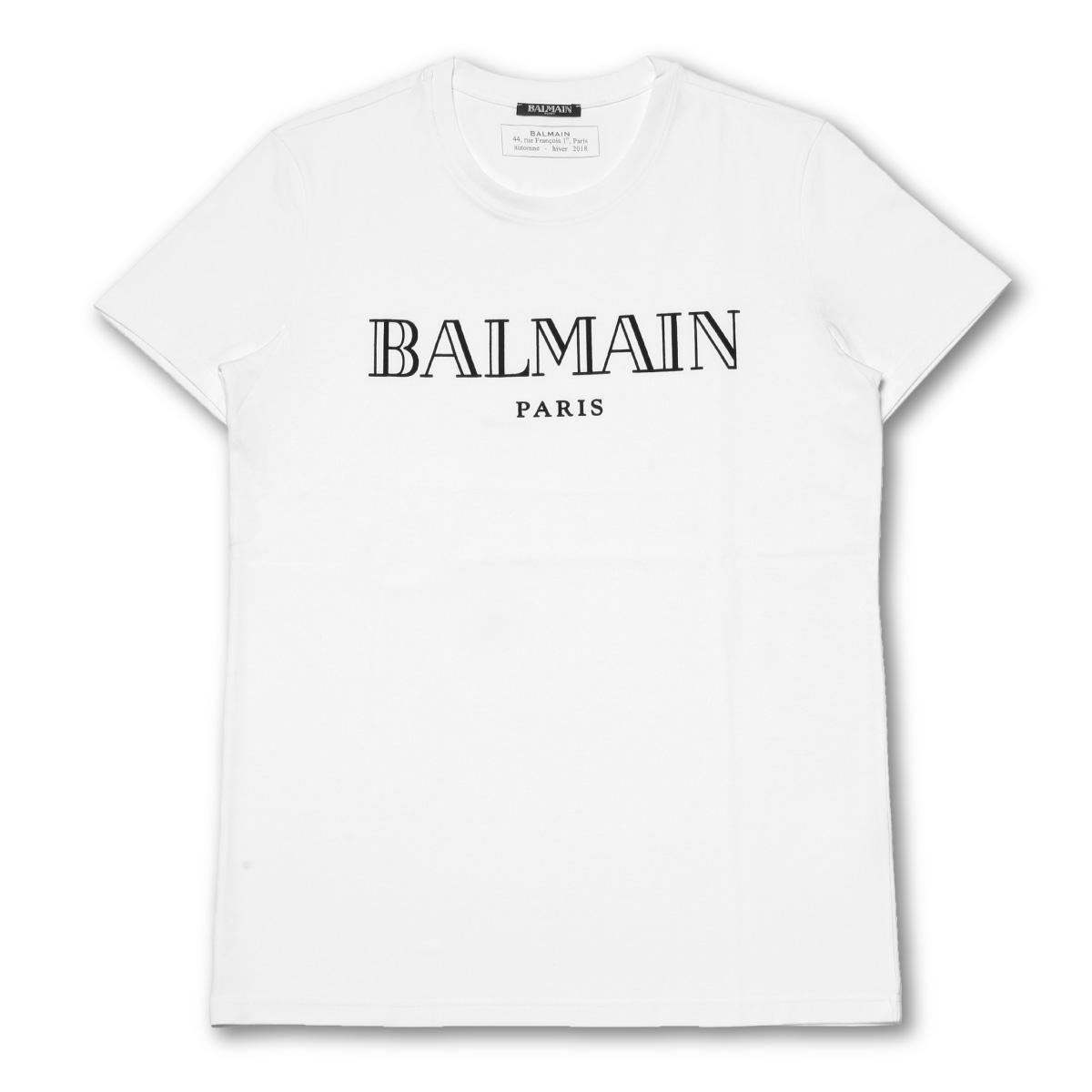 7b035204eb importshopdouble: Baru man BALMAIN T-shirt men W8H8601 I259 100 short  sleeves T-shirt WHITE white | Rakuten Global Market