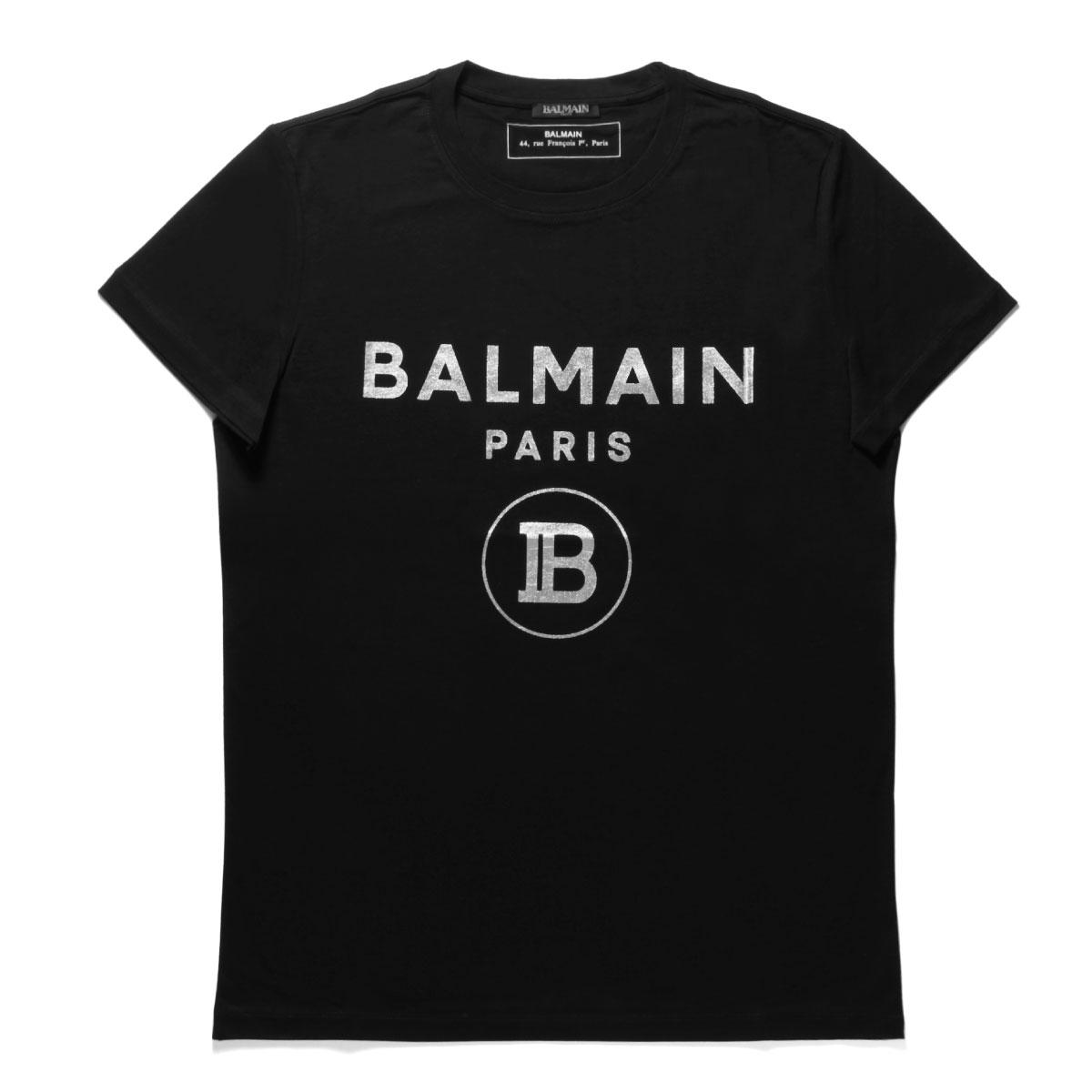 バルマン BALMAIN Tシャツ メンズ SH01601I194 0PA 半袖Tシャツ NOIR ブラック