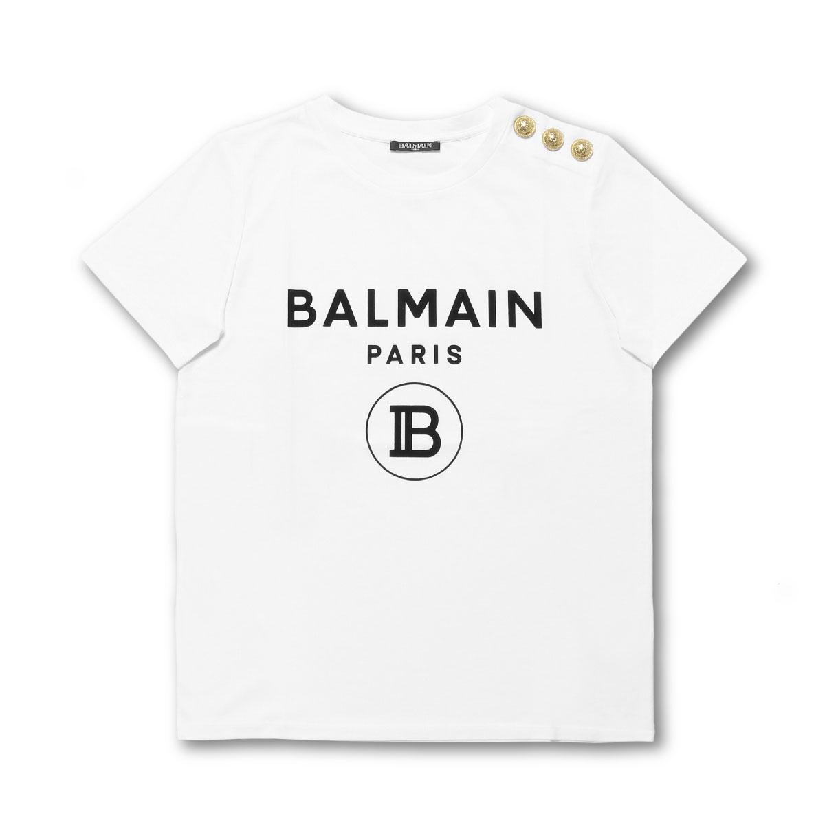 バルマン BALMAIN Tシャツ レディース SF11364I193 GAB 半袖Tシャツ BLAN ホワイト