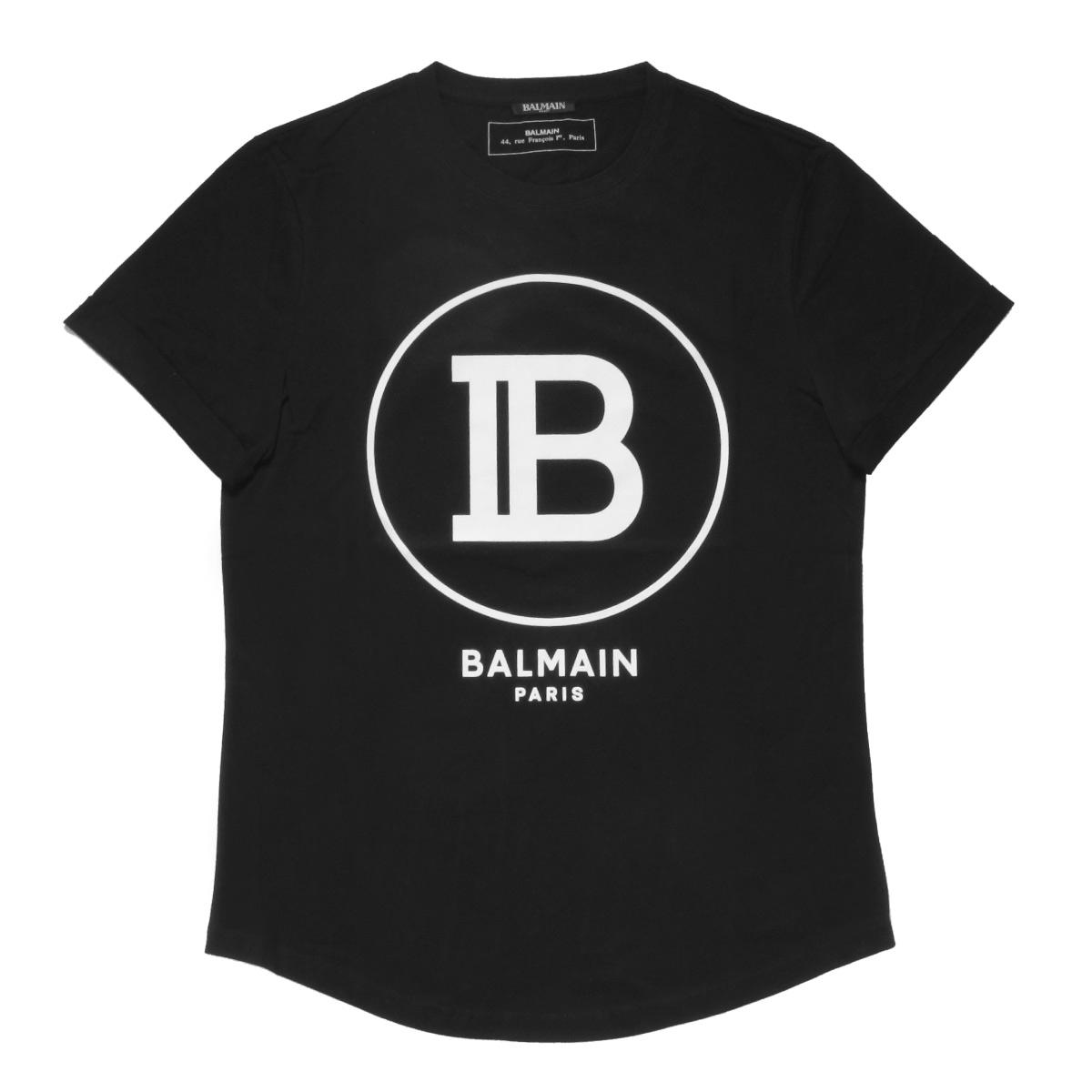 バルマン BALMAIN Tシャツ メンズ SH01135I207 0PA 半袖Tシャツ NOIR ブラック
