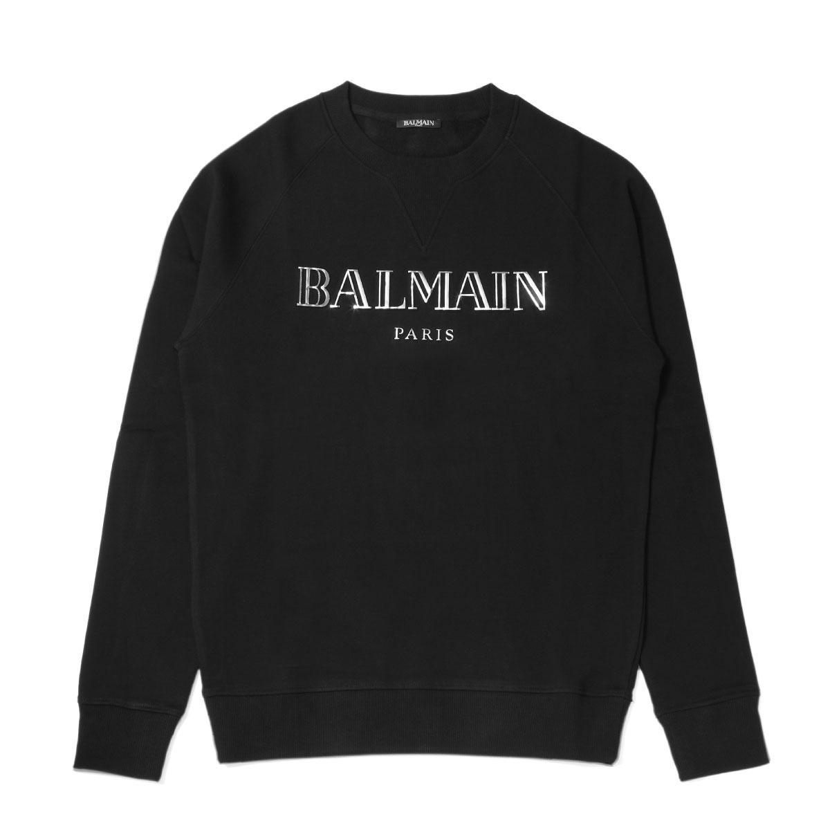 バルマン BALMAIN スウェット メンズ SH13279I106 EAC 長袖スウェット NOIR ブラック