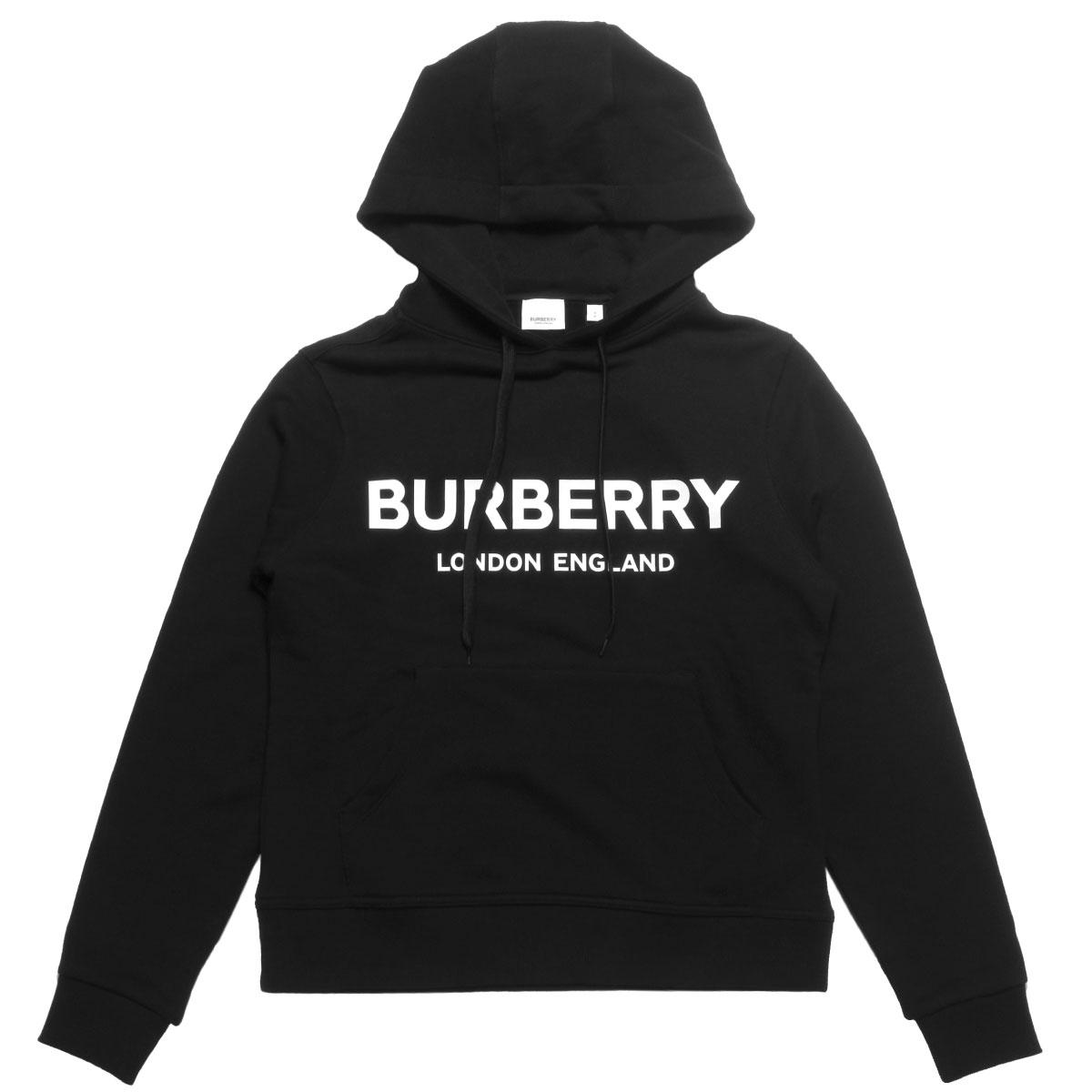 バーバリー BURBERRY パーカー レディース 8011652 フード付 長袖パーカー BLACK ブラック