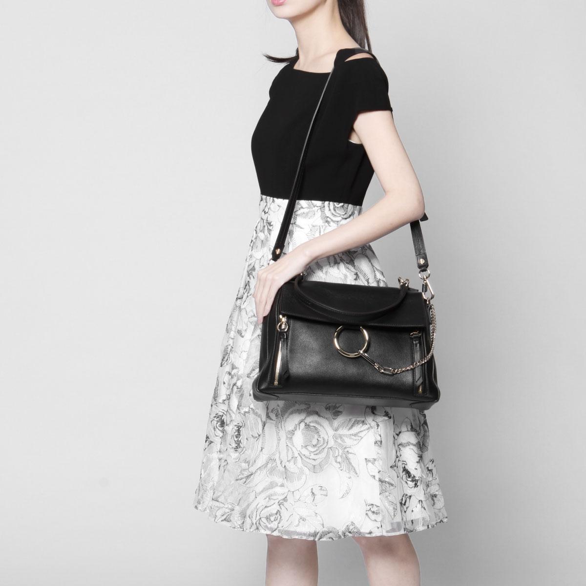 65930b6716 Kuroe CHLOE bag lady C17WS321 HGJ 001 shoulder handbag medium FAYE DAY Fay  D BLACK black belonging to