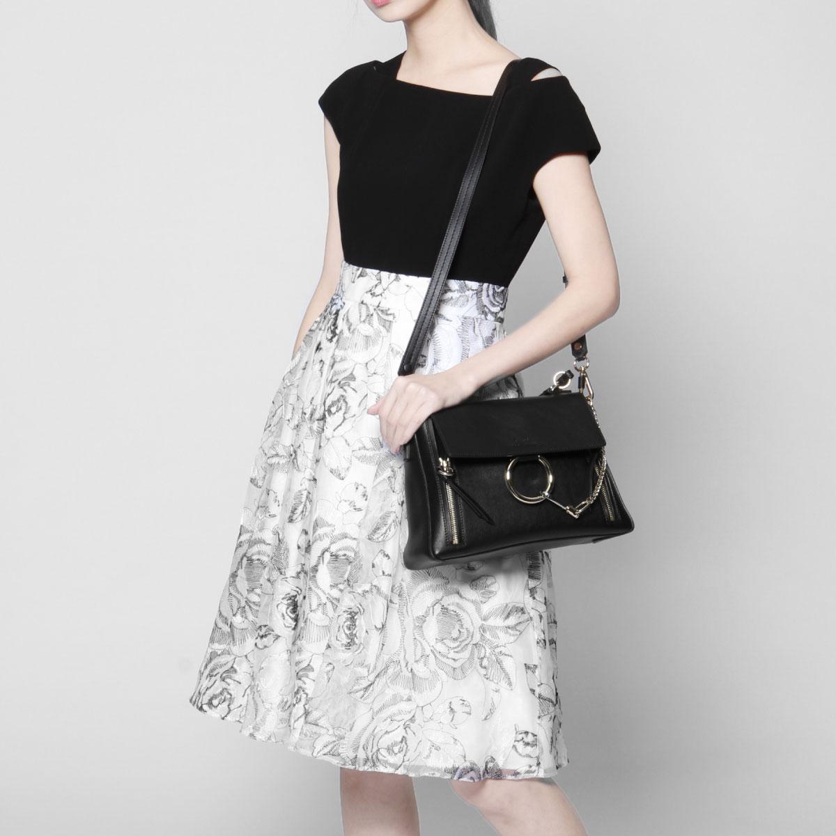 ce98468f15 Kuroe CHLOE bag lady C17WS322 HGJ 001 shoulder handbag Small FAYE DAY Fay D  BLACK black belonging to