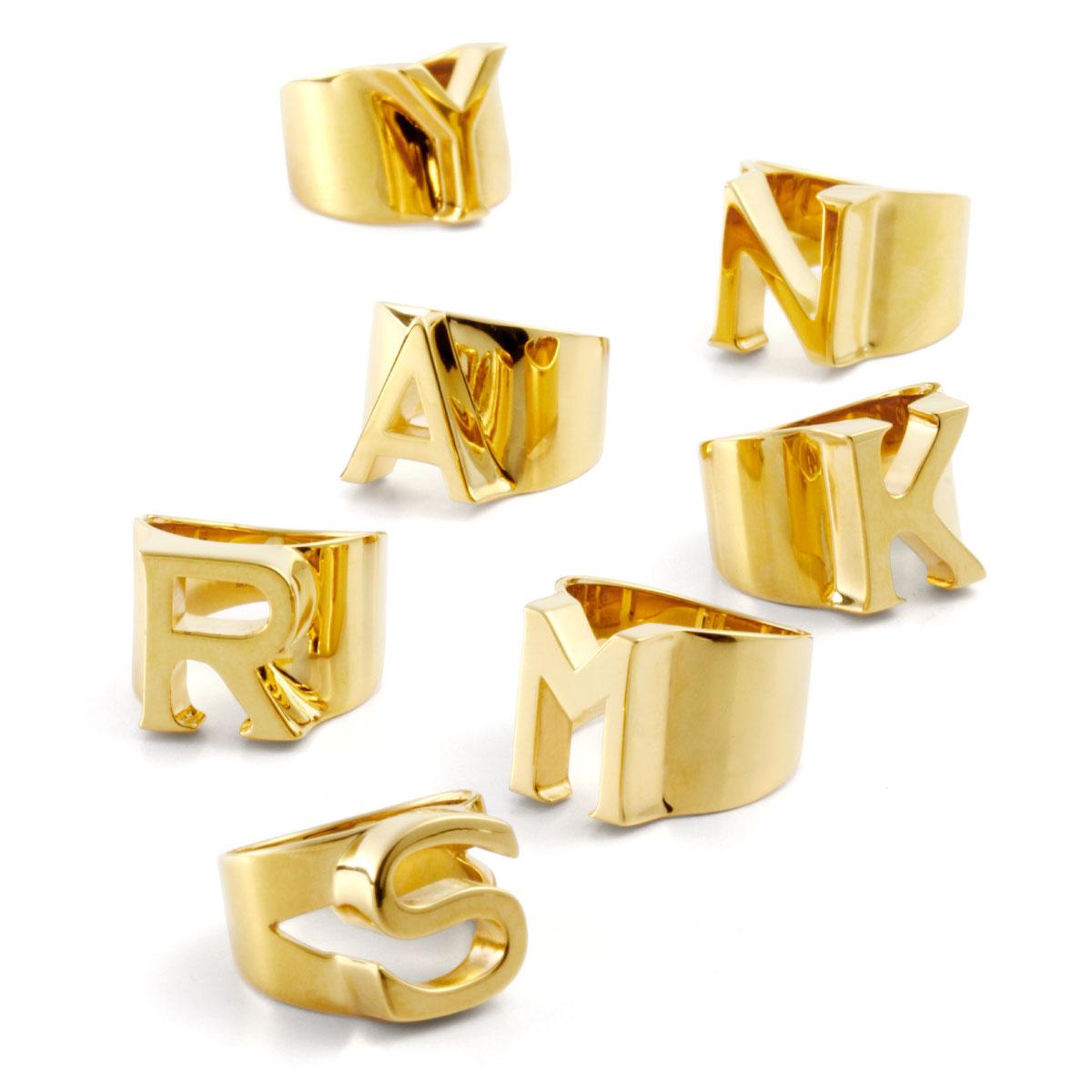 クロエ CHLOE アクセサリー レディース 2R000A CB7 091 リング ALPHABET アルファベット GOLD ゴールド