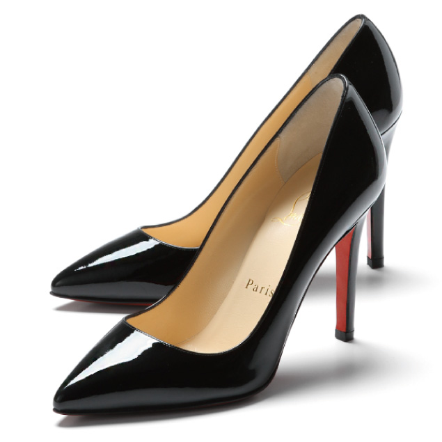 huge selection of d2578 2297a Christian Louboutin (Christian Louboutin) pumps patent leather pointy toe  pumps PIGALLE 100 BLACK